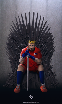 The King in the South (Arturo Vidal) by gran-jefe