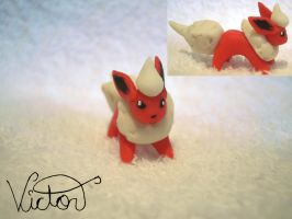 136 Flareon by VictorCustomizer