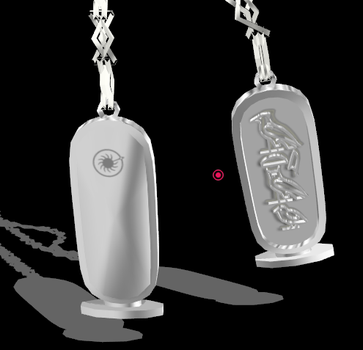MMD model DL-Atemu-name-necklace by wicyll