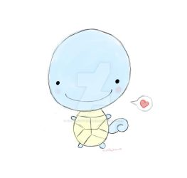 Squirtle Doodle by ALittleDayDreamer
