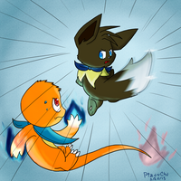 :Request: Incomming Eevee! by Pizaru-Chu
