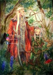 Father and son by Ysenna