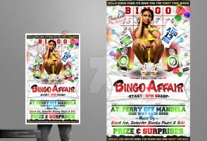 Bingo Affair Party Flyer by Gallistero