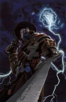 Witch Hunter 1 cover B by TonyParkerArt