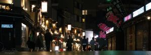 Asakusa at night by LunaFeles