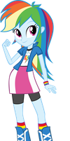 Equestria Girls: Rainbow Dash by DeathNyan