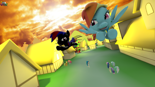 [SFM] Allan VS Rainbow Dash course de vole by Lux-The-Pegasus