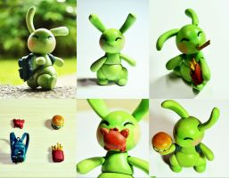 :Poseable Toy Bun and Accessories: by PrePAWSterous