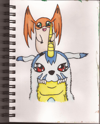 Watercolour Notebook #5: Digimon Brothers by Greenpolarbear47