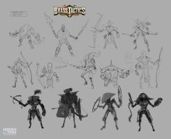 Brass Tactics - Ranged Unit Early Designs by JohnoftheNorth