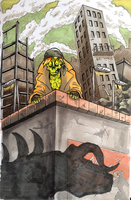Deathclaw Crossing by akselvee