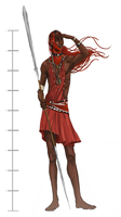 Maasai Koinet (The Tall One) by emiliestabell