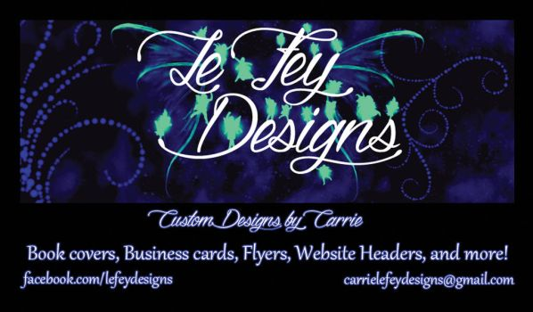 Le Fey Designs Business Card Design by CarrieLeFey316