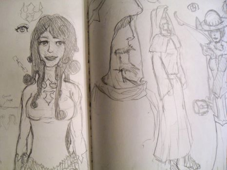 World's Heir Concept Sketches by ixfalia