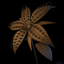 Spiked Flower by VickyM72