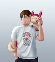 Evan and Furret by EvanDaMaster