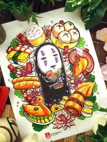 Spirited Away Ghibli Fanart: No Face by childheroes