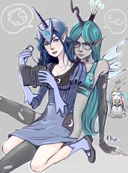 Insert a Classy Title Here (Luna and Chrysalis) by tilhe