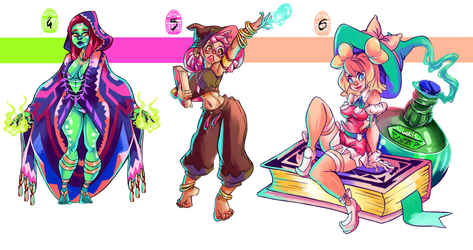 Witch Adoptable Batch(4-6) [Open] by ButteryTea