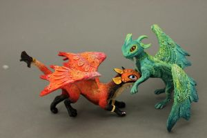 Turquoislime and Turtlefox - RGL-project dragon by hontor