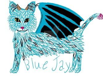 Blue Jay Creation Cat Adopt by Blade-011