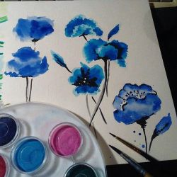 Blue poppies by saysly