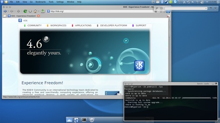 KDE 4.6 On My Sony VAIO by 42nt1