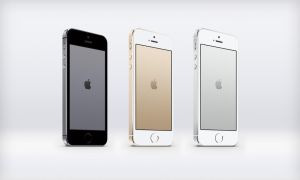 iPhone 5S Metal Logo Wallpapers by JasonZigrino