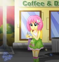 Fluttershy - coffee 'N' Donuts by sumin6301