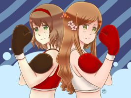 APH- Boxing girls [RQ] by PhyroNite