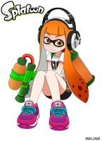Splatoon Inkling Gear up by zeckos