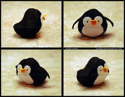 penguin plushie. by ginger-paw