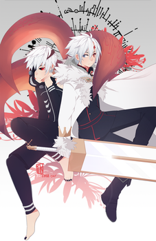 Crossover Tokyo Ghoul and D.Gray-Man by BottleWonderland