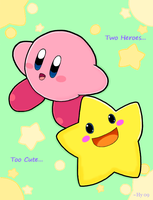 Kirby and Starfy by water-kirby