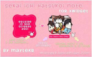 Sekai Ichi Hatsukoi Note for XWidget by MayteKr
