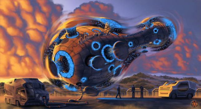 gravship by Marsmotion mike mars by mikemars