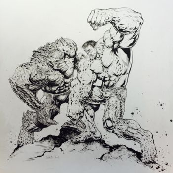 #Hulk vs. The Abomination by LiamSharp