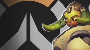 Overwatch Side Profile Wallpaper - Orisa by PT-Desu