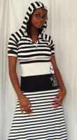 NBC striped outfit by funkyfunnybone