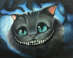 Cheshire Cat - oil painting (finished) by silwe