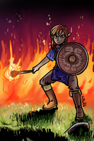Link (Breath of the Wild) by P5ych