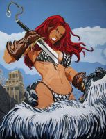 Throwback Thursday my Red Sonja After Frank Cho by DChan75