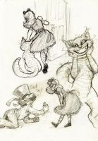 Alice In Wonderland Sketches by AlexandriaMonik