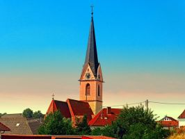 The village church of Allhaming I by patrickjobst