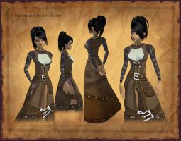 Steampunk Noble's Dress by Hyptosis