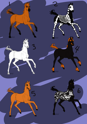 Halloween Equine Adoptables -OPEN- by AshFisher