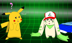 Ash TF to Terriermon by PikachuFan60