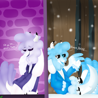 The door (Cottemonny Toriel And Cottemony Sans) by DrawingsGirll