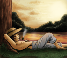 Huck Finn by Lord-Giovanni