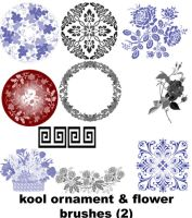 flower ornament brushes 2 by koolprincein
